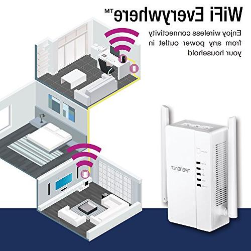 TRENDnet Everywhere 1200 AC1200 Wireless and TPL-421E, White, TPL-430APK