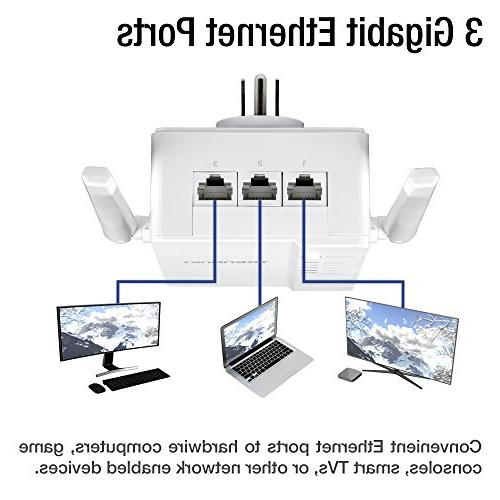 TRENDnet Wi-Fi Everywhere Powerline 1200 AV2 Dual-Band AC1200 Wireless Access Includes 1 and