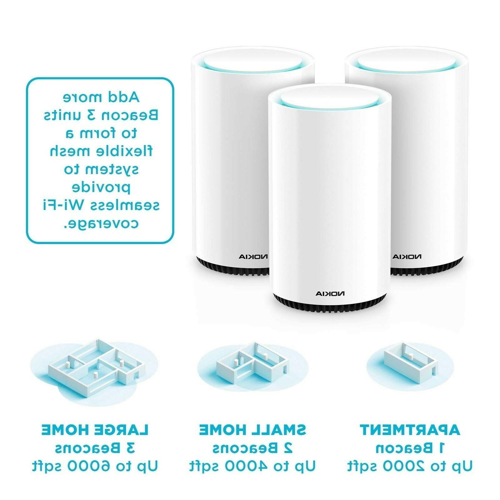Nokia WiFi Beacon Mesh Router System Intelligent, Home WiFi
