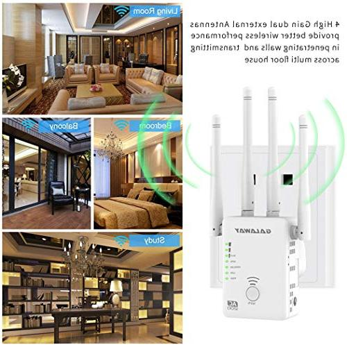 GALAWAY Extender External Antennas Wireless Signal with Band 2.4GHz and 5GHz WiFi 802.11ac/a/b/g/n Standards