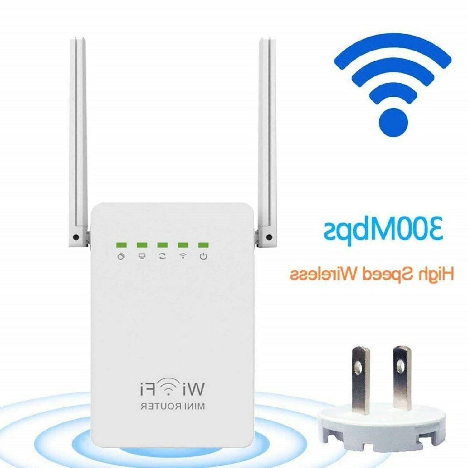 WIFI RANGE EXTENDER 300 Mbps Internet Booster Router Mini Wi