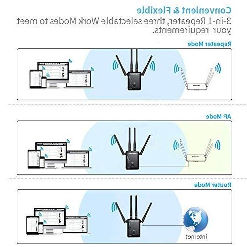 WiFi Extender, WAVLINK 1200Mbps Dual Band Wireless 5GHz Booster/Repeater/Access Point/Router 4