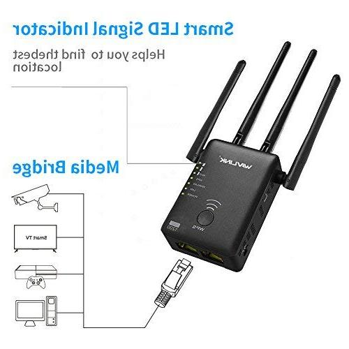 WiFi Range Extender, 1200Mbps Dual Wireless 5GHz Point/Router Antennas