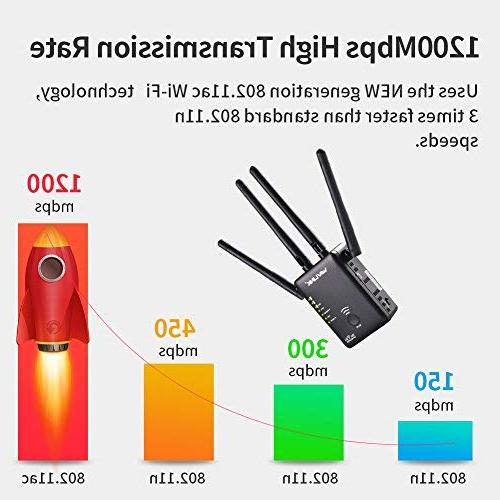 WiFi Extender, 1200Mbps Mini Wireless 5GHz Internet Point/Router Antennas
