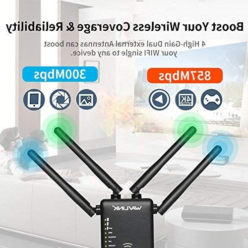 WiFi Extender, 1200Mbps Dual Wireless 2.4GHz 5GHz Internet Signal Point/Router Antennas