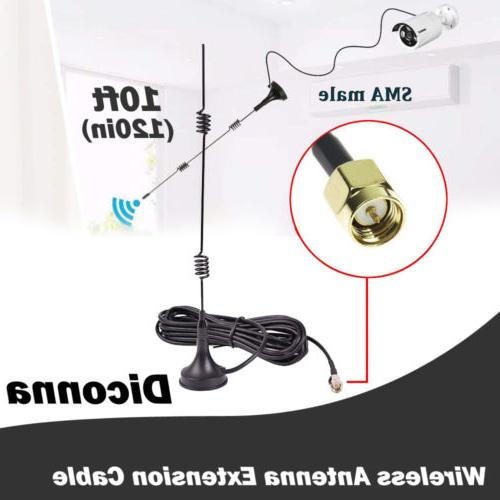 wifi router antenna extension cable wire connectorfor