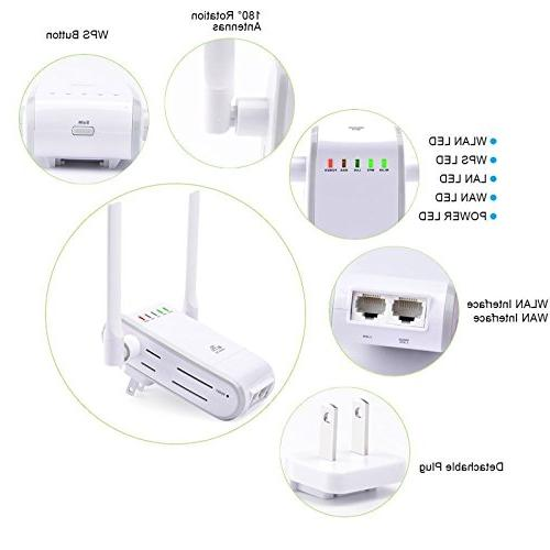 300Mbps WiFi Router Repeater Mini Portable Wireless Range