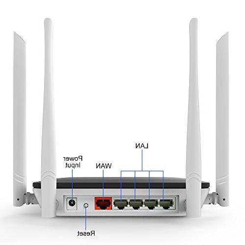 Wireless with Repeater Long 1200mbps Range Extender Dual with Lan for Home Office Restauran Alexa Router