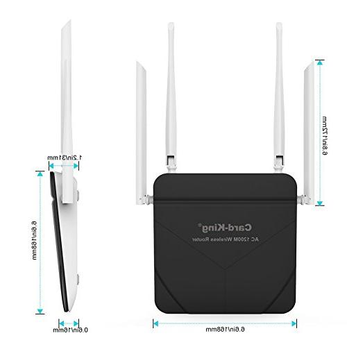 Wireless Router Repeater Long range 1200mbps WiFi Range Dual with 4 for Restauran Router Repeater