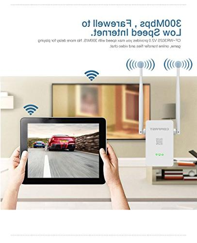 Wireless 300mbps wifi n extender g english firmware COMFAST