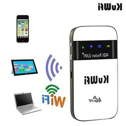 KuWFi 4G LTE Pocket WiFi Router Unlocked LTE 4G Mobile WiFi
