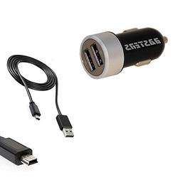 2in1 mini pocket sized lighted car charger kit includes doub