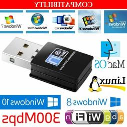 Mini 300Mbps USB Wireless WiFi Lan Network Receiver Card Ada