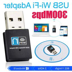 Stoga 300Mbps Mini Wireless USB Wifi Adapter LAN internet Ne