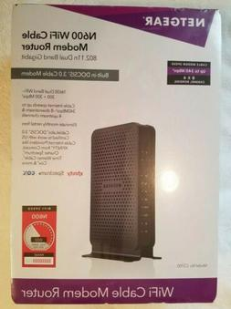 Netgear N600 WiFi Cable Modem Router 802.11n Dual Band Gigab