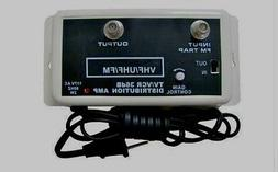 NEW 36DB HDTV VHF UHF ANTENNA & CABLE AMPLIFIER SIGNAL RANGE