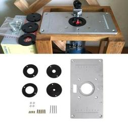 New Aluminum Router Table Insert Plate 235*120*8mm With Ring