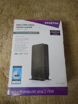 New NETGEAR C3000 Netgear N300 WiFi Cable Modem Router