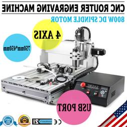 New CNC6040Z 4 Axis USB Router Engraver Engraving Drilling M