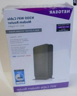 *NEW SEALED* NETGEAR C3000-100NAS N300  WiFi DOCSIS 3.0 Cabl