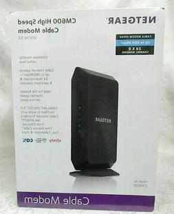 *New Sealed* NETGEAR CM600-100NAS Cable Modem DOCSIS 3.0 24x