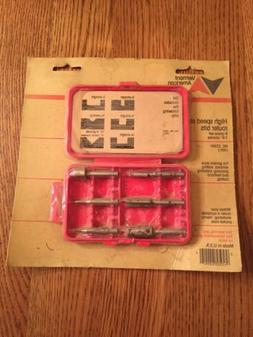 Vermont American No 22991 High Speed Steel Router Bits 6 Pc