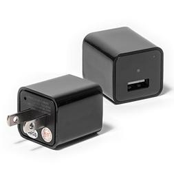 USB Wall Charger with Hidden Spy Camera – Concealed Indoor