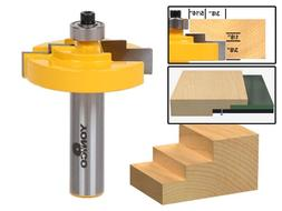 """1/8"""" Glass Stepped Rabbet Router Bit - 1/2"""" Shank - Yonico 1"""