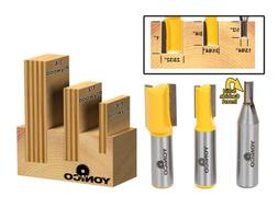 Yonico 14323 3 Plywood Dado Router Bits for 3/4-Inch 1/2-Inc