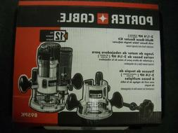 Porter Cable 895PK 2 1/4 HP Fixed & Plunge Base Router Kit &