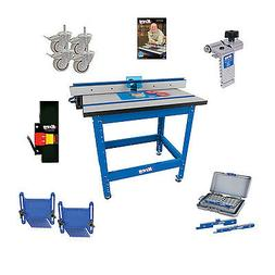 Kreg PRS1045  Router Table, Caster, Switch, Bars, DVD
