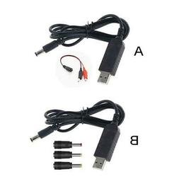 QC 3.0 USB to DC 5V-12V Adjustable Voltage Power Cable for R