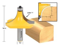 "1"" Radius Round Over Edge Forming Router Bit - 1/2"" Shank -"