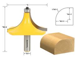 "1-1/4"" Radius Round Over Edge Forming Router Bit - 1/2"" Shan"