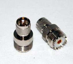 RF ADAPTER MINI UHF MALE TO UHF FEMALE PL259 KENWOOD ANTENNA