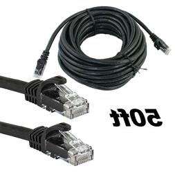 RJ45 Cat5 50 FT Ethernet LAN Network Cable for PS Xbox PC In