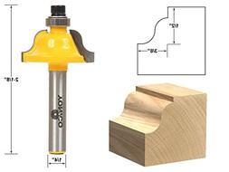 """3/8"""" Roman Ogee Edge Forming Router Bit - 1/4"""" Shank - Yonic"""