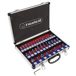 """Router Bit Set- 35 Piece Kit with ¼"""" Shank and Aluminum S"""
