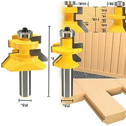 2pcs Router Bit Set 1/2 inch X 3 inch Matched Tongue Groove