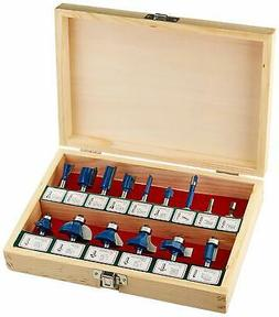 "Router Bit Set | 15pc Tungsten Carbide 1/4"" Router Wood Rota"