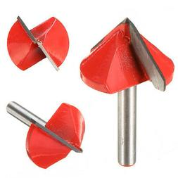 Router CNC Engraving V Groove Bit 6mm x 32mm 90 Degree Woodw