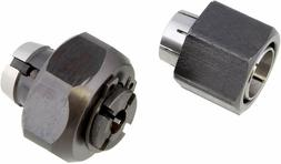 "Superior Electric 2 piece Router Collet Kit 1/4"" and 1/2"" Re"