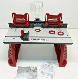 Craftsman Router Table Adjustable 37599 Dust port feather bo