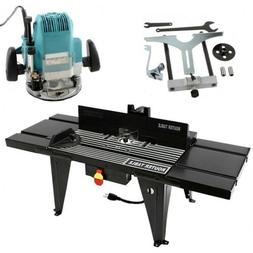 """Router Table & 1/2"""" Router Kit Benchtop 34""""x13"""" Deluxe w/ On"""