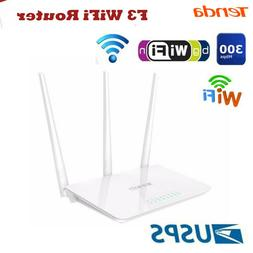 Tenda 300Mbps Wireless WiFi Router 2.4G 100M US Plug for Sma