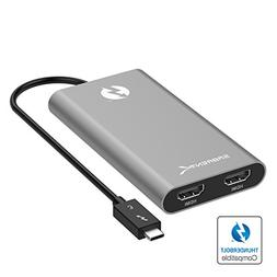 Sabrent Thunderbolt 3 to Dual HDMI Adapter
