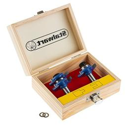 NEW Tongue and Groove Router Bit Set with 1 2 Inch Shank   S