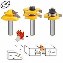 Tongue and Groove Router Bit Tool Set 3 Teeth Adjustable T S