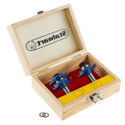 Tongue and Groove Router Bit Set All Purpose Woodwork Cuttin