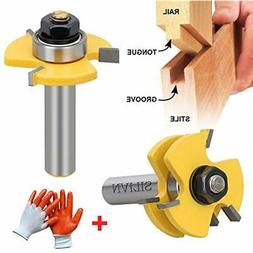SILIVN Tongue and Groove Set, Router Bit Set, Wood Door Floo